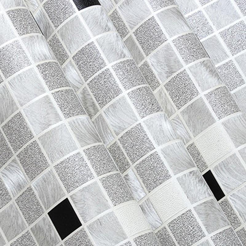 PVC Waterproof Mosaic Wallpaper Modern Simple Environmental Protection Wallpaper Living Room Balcony Backdrop Papel De Parede 3D
