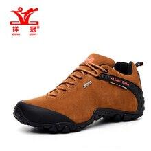 Аутентичные мужчины непромокаемую обувь походы скольжения уличной обуви, новых мужчин осень и зима коричневый натуральная кожа Замшевые туфли размер 39-44
