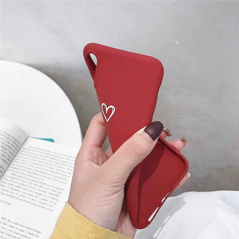 Матовый с узором из сердечек костюм чехол для телефона для Xiaomi mi 5 5X6X8 8SE A1 A2 Lite Red mi Note 4 4A 4X 5A 6A 6 Pro S2 Мягкий силиконовый чехол
