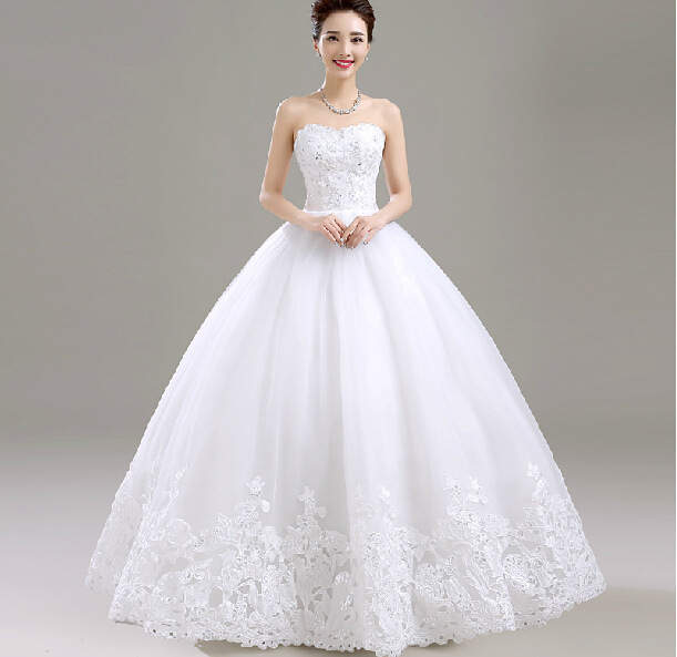 f239a82579 Online Shop Sleeveless Wedding Dress 2018 New Pattern Bride Marry Top Land  Korean Lanky Tailing High Quality Ball Gowns As Pictures | Aliexpress Mobile