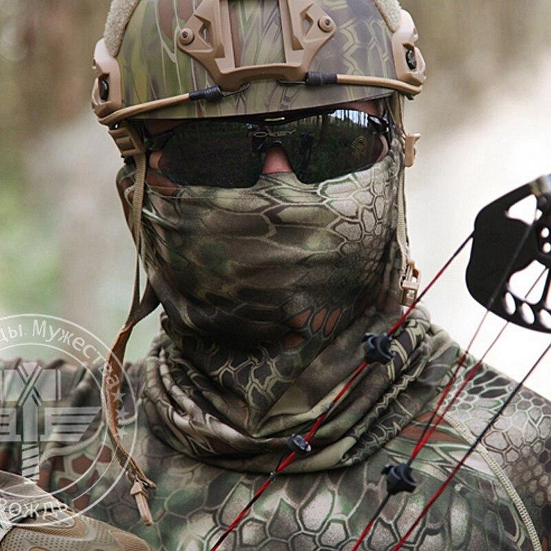 Prix pour En plein air Tactique Kryptek Balaclava Plein Visage Masque Airsoft Multifonctionnel Serré Camouflage Chapeaux D'hiver Écharpe Cache-Cou