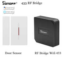 SONOFF RF Brücke 433MHZ Wifi Tür Fenster Motion Sensor DW1 Wireless Detektor Smart Home Automation Sicherheit System Alexa Google