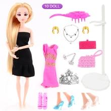 UCanaan Любимой девушки Принцесса Сладкий Кукла 17 Аксессуары Лучший Друг играть с Девушки 3D Глаза Куклы Игрушки Лучший Подарок На День Рождения DIY