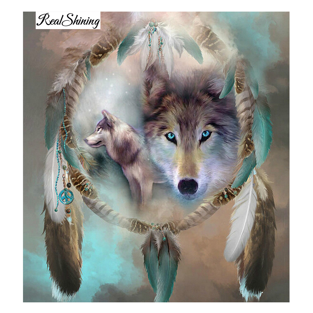 diamond embroidery wolf mosaic crystal 3d cross stitch