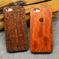 "Wood Case For Apple iPhone 6 6s 4.7"" Plus 5.5"" 5S SE 100% Bamboo Carving Natural Wood+ Plastic Hard Phone Cover Cases"