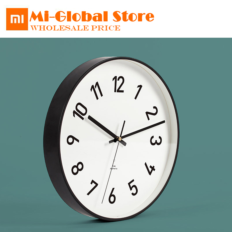 original xiaomi YuiHome Decor classic art wall clock Mute Clocks Watch T Aesthetic Minimalist for xiaomi home t art блузка