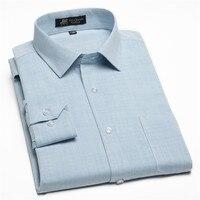 Autumn 2016 High Quality Cotton And Linen Comfortable Men Dress Shirts Slim Fit Fashion Solid Plain
