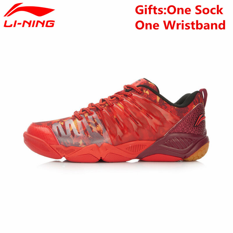 Li-Ning Professional Badminton Shoes for Men Hard-wearing Lining Athletic Sneaker Anti-Slippery Sport Shoe Li Ning AYTL039 L640 li ning men indoor training shoes breathable cushioning anti slippery hard wearing sneakers lining sport shoes asnh009 yxx003