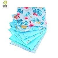 Shuanshuo новая синяя полуметровая твиловая, хлопковая ткань Лоскутная Ткань ручной работы DIY стеганый швейный текстильный материал 160*50 см