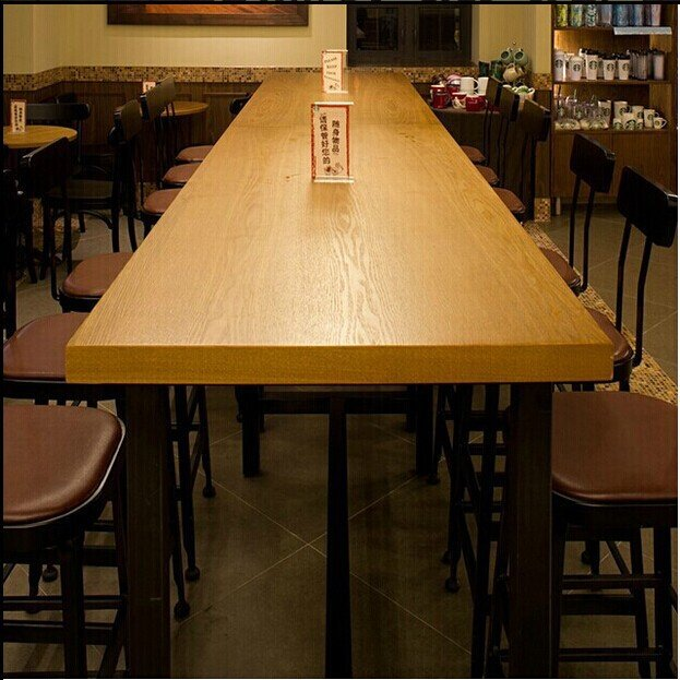 Starbucks Dining Table Dinette Combination Of Solid Wood Conference - Desk conference table combination