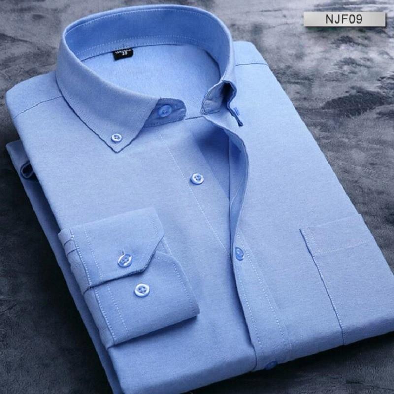 새로운 긴 소매 슬림 남자 복장 셔츠 2017 캐주얼 디자이너 고품질 솔리드 셔츠 남성 맞는 남성용 사회 사업 셔츠