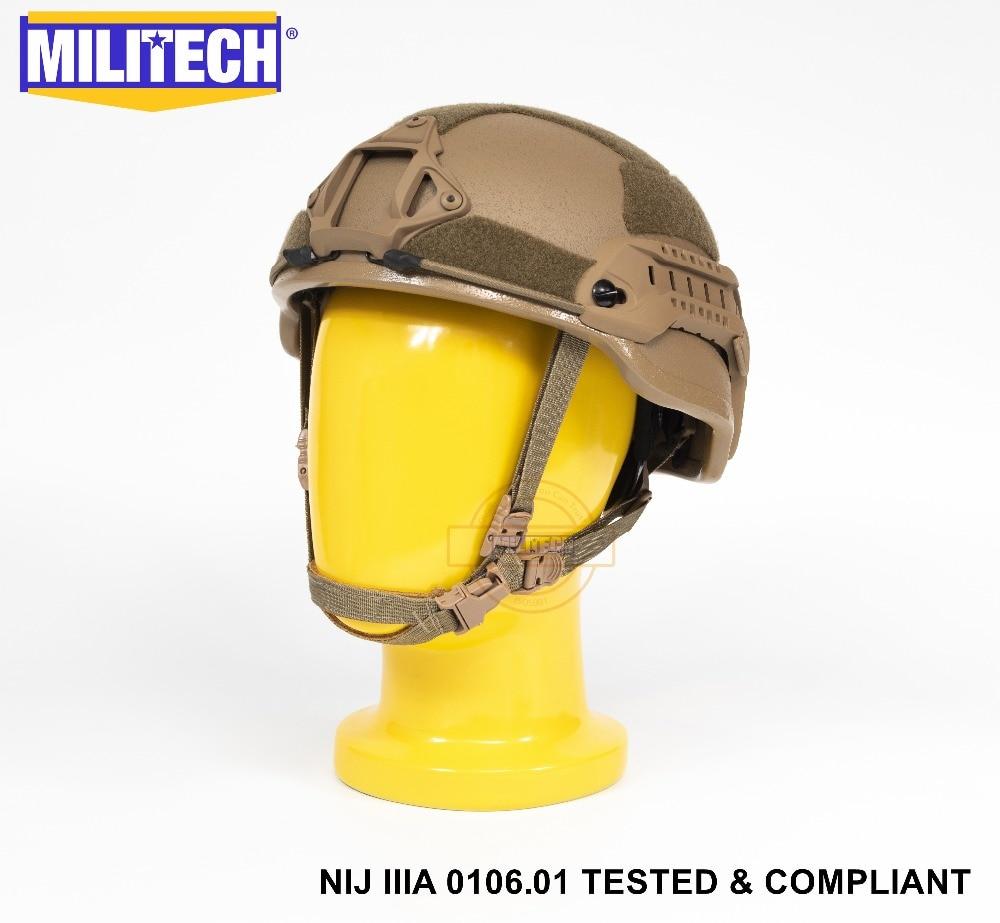 ISO Certified NIJ Level IIIA 3A Militech CB 2019 ARC Mid Cut Bulletproof Sentry XP Aramid Ballistic Helmet With 5 Years Warranty