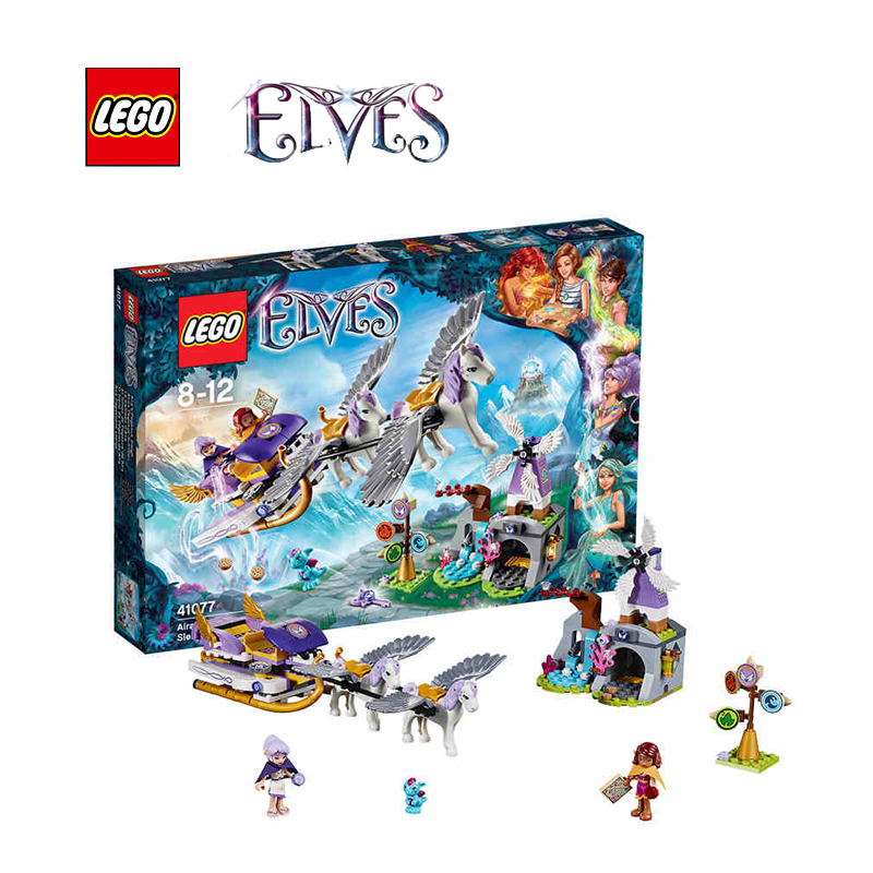 Lego elves building bricks toy Aira's Pegasus Sleigh Building blocks Toy for children LEGC41077 lego 8 lego elves 41077 лего эльфы летающие сани эйры