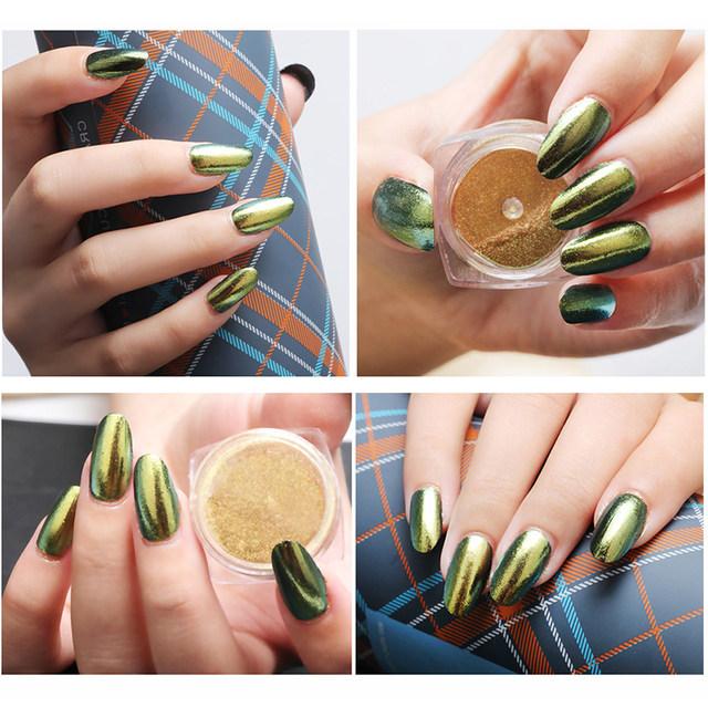Tienda Online Moda cromo nail Polvos de maquillaje Brillos de uñas ...