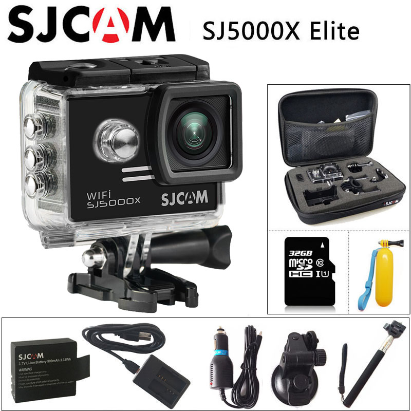 Sjcam SJ5000X Elite deporte acción Cámara 1080 p Full HD 4 K Gyro 2.0 pulgadas NTK96660 original CAM buceo 30 M impermeable deportes DV