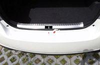 Steel Inner Rear Bumper Protector Sill Plate For Toyota Vios Yaris Sedan 14-17