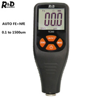 R&D TC200 Coating Thickness Gauge 0.1 micron/0 1500 Car Paint Film Thickness Tester Measuring FE/NFE Russian Manual Paint Tool