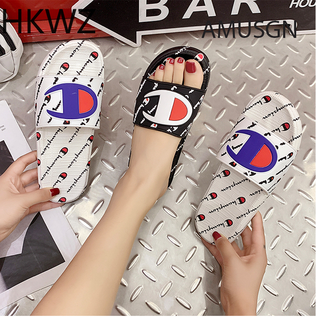 2019 summer brand new couple slippers home bathroom non-slip color matching soft bottom slippers thick bottom round toe sandals