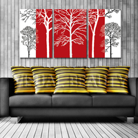 FREE SHIPPING Abstract Unique Style Leave Painting on the Wall Oil Painting Canvas Arts(Unframed)40x60cmx3pcs
