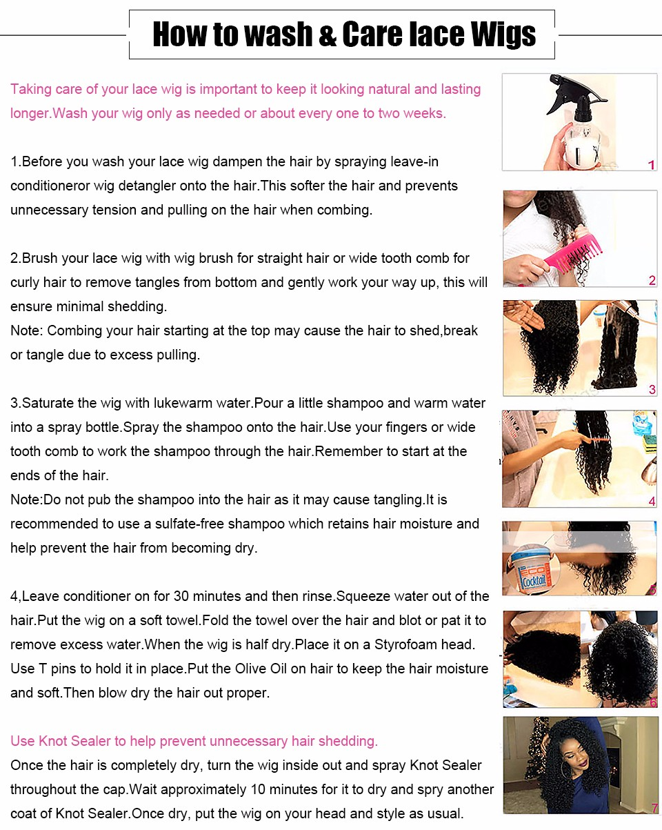 How to wash & Care lace Wigs