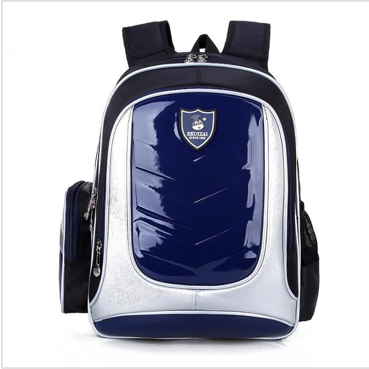 New 2017 Leather Backpack Orthopedic School bags For Boys girl PU Waterproof Backpack Child Kids School