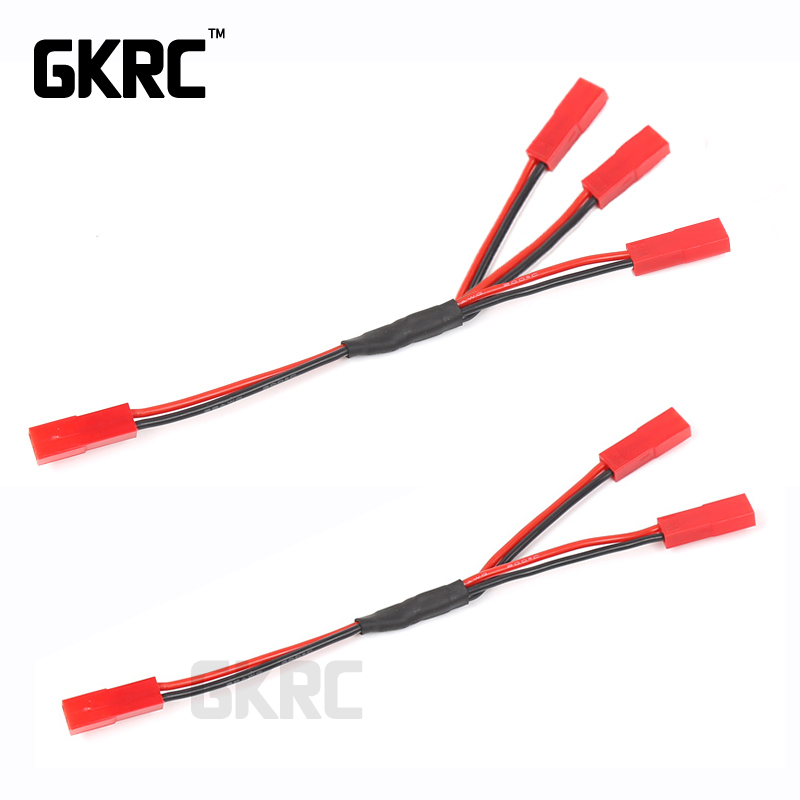 Gkrc Three In One Cable Esc Power Supply External Wiring Jst For 1/10 Rc Crawler Car Defender Traxxas Trx4 Tactical Unit BroncoGkrc Three In One Cable Esc Power Supply External Wiring Jst For 1/10 Rc Crawler Car Defender Traxxas Trx4 Tactical Unit Bronco