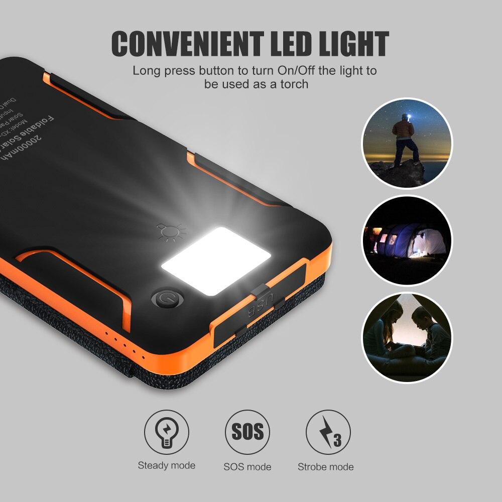 20000mAh Solar Smartphone Dual