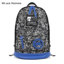 High Quality Fashion Graffiti Backpack Students Female School Bags For Teenage Girls Men Travel Rucksack