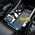KOSOO for hyundai sonata 8 YF auto gear Auto cup holder panel car sticker decals Bright surface decoration decal car-styling
