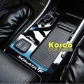 KOSOO para hyundai sonata YF 8 engrenagem auto Auto suporte de copo decoração decalque do carro decalques da etiqueta do carro do painel de superfície Brilhante-styling