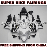 Free Shipping UV Painting Job Aftermarket ABS Fairing Body Case For Honda CBR600RR F5 2003 2004 BLACK AND WHITE