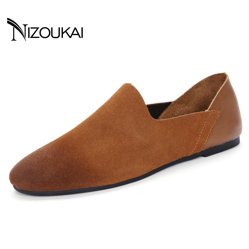 New Design Handmade men casual shoes spring autumn Men Loafers Fashion Walking Slip on Classic Casual Shoes Men Flats zapatos new 2017 men s genuine leather casual shoes korean fashion style breathable male shoes men spring autumn slip on low top loafers