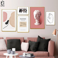 Abstract Still Life Vintage Poster and Print Canvas Painting Wall Art Pictures for Living Room Home Decor(China)