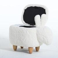 Крук ног Бросился Новое поступление деревянный современный без китайский фарфор Taburetes стул обуви Exchange Bench кролик стул