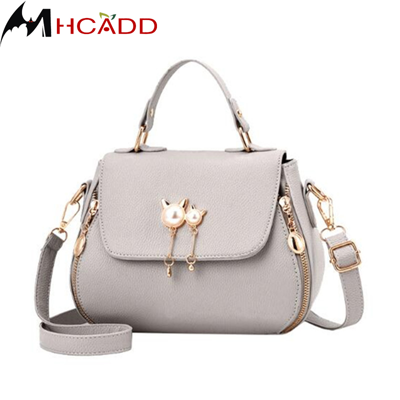 MHCADD High Quality Fashion Ladies Messenger Bags PU Leather Shoulder Bags Women Crossbody Bag For Girl Brand Women Handbags