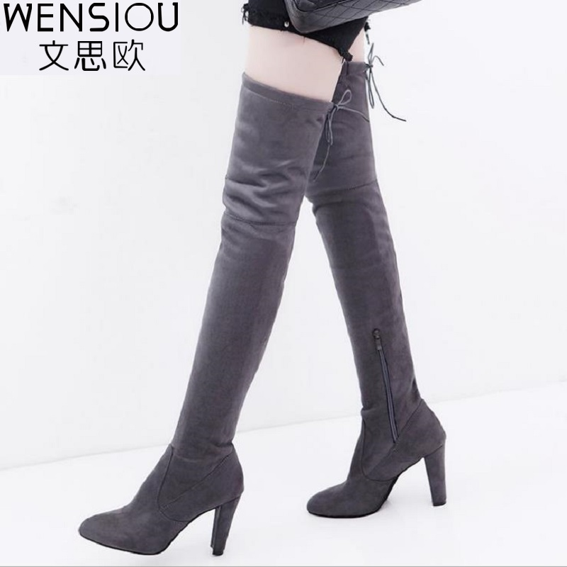 Women Shoes Winter Boots Over the Knee Boots Pointed Toe High-Heeled Comfortable Autumn Shoes Fashion Slim Boots New BDT1049