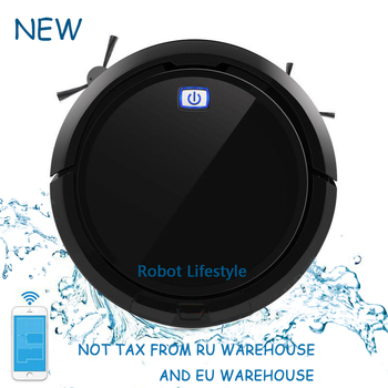 цена на High Technology Smart Memory Navigation Mapping and Resume Smartphone App Control Auto Robot Vacuum Cleaner QQ9 upgrade from QQ6