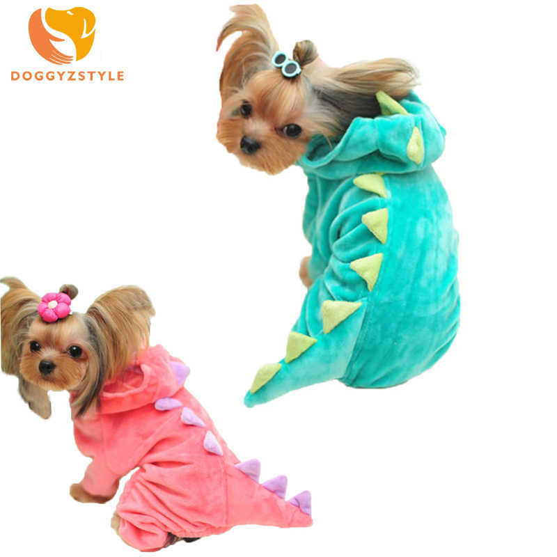 Cute Dinosaur Dog Jumpsuit Pet Pajamas Clothes For Small Dogs Monster Dragon Hoodies Puppy Cat Costume DOGGYZSTYLE