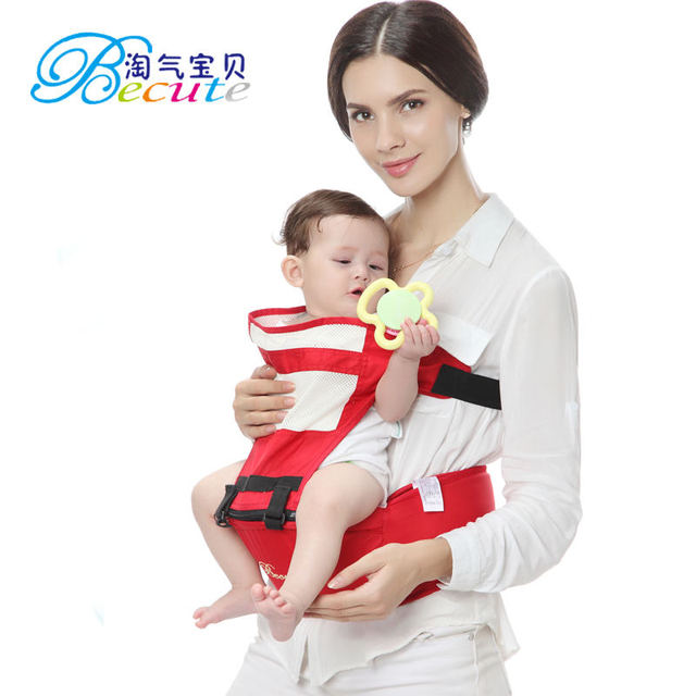c1b5dab6555 Becute Baby Carrier Adjustable Newborn Baby Sling Portable Multifunctional kid  Red carriage wrap sling