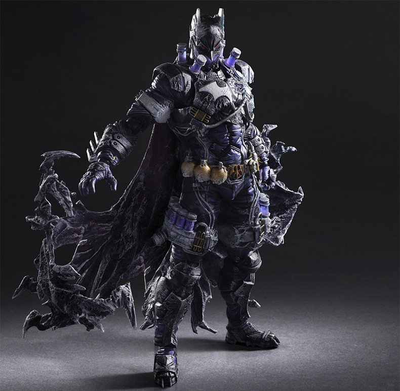 Batman Action Figure Play Arts Kai Mr.Freeze PVC Toys 260mm Anime Movie Freeze Bat Man Playarts Kai Model Toy iron man action figure play arts kai the avengers grey ironman pvc toy 28cm anime movie model iron man playarts kai superhero