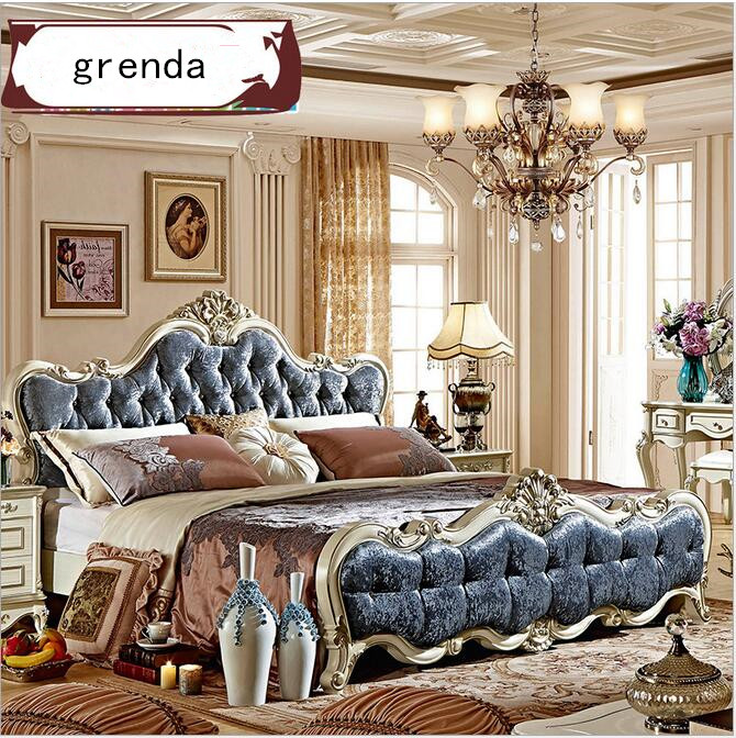 new classical european style solid wood bed double bed is 18 meters bedroom furniture bedroom furniture china