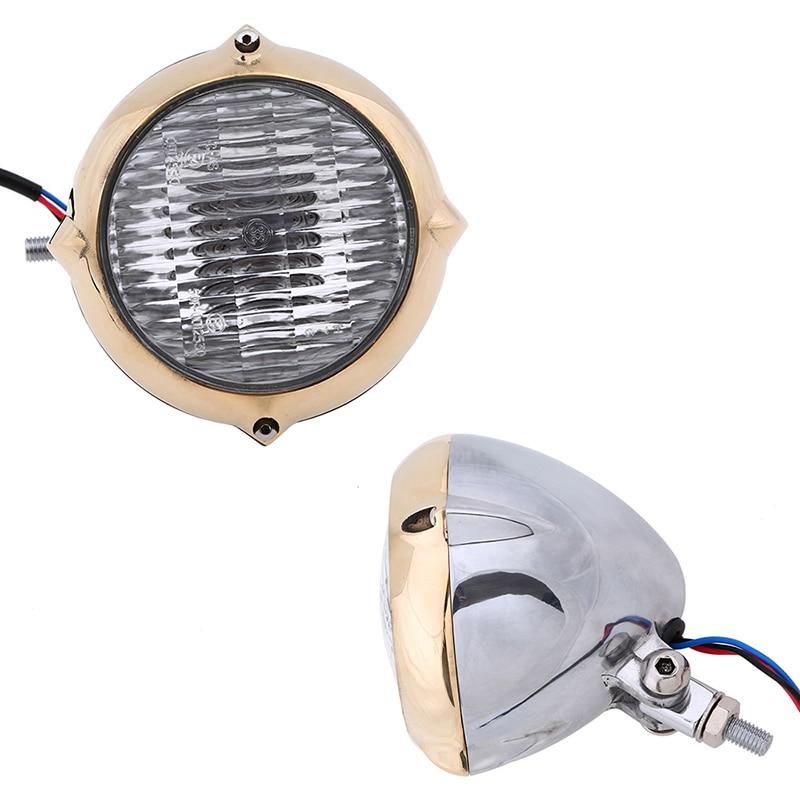 Universal 5 M9 Bolt Motorcycle Headlight 12V Halogen Bulb Hi/Lo Beam Amber Lights For Harley Sportster 1200 XL1200L 883 Custom