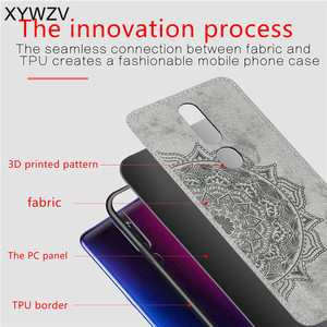 Image 5 - For OPPO A9X Case Shockproof Cover Soft Silicone Luxury Cloth Texture Phone Case For OPPO A9X Phone Cover For OPPO A9 X Fundas