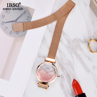 IBSO Brand Creative Cut Glass Ladies Quartz Watch Women Magnet Buckle Design Women Wrist Watches Fashion Montre Femme 2019 Clock
