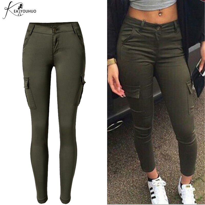 2019 Summer Winter High Waist Cargo Pants For Women Joggers Women Pantalon Femme Army Camouflage Female Military Trousers Women