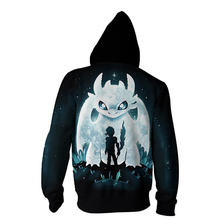 How to Train Your Dragon 3D Printed Hoodies Cosplay Costume anime hoodie Zipper men hooded Sweatshirt Hip Hop Streatwear S-5XL(China)