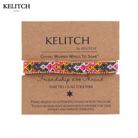 Kelitch Brand Bangle Weave Cotton Rope String Handmade Friendship Bracelets For Friends Gifts AZ1W 15050