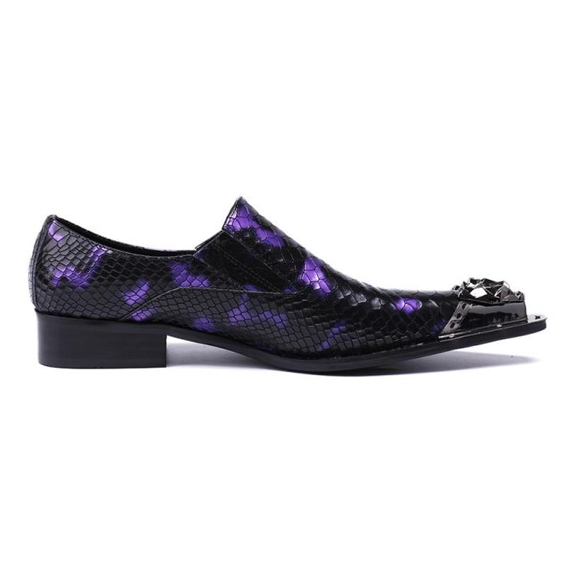 La Más Boda Mocasines Formal Para Púrpura Sl153 Hombres Lujo Cocodrilo Dedo Pie En Zapatos De Tamaño Deslizamiento Punta Del Hombre Auténtico Cuero aqwaATr