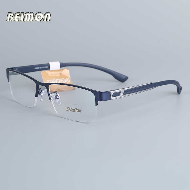 Belmon Eyeglasses Frame Men Computer Optical Prescription Myopia Nerd Clear Lens Eye Glasses Spectacle Frame For Male RS12008