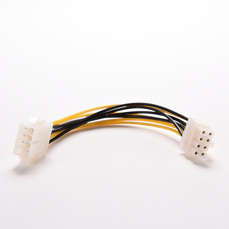 New 8 Pin Male To Female ATX EPS Power Supply PSU Extension Cable 12V PC Computer Graphics Card Power Supply Cord Connector 2pcs 20cm atx 4 pin male to 4pin female pc cpu power supply extension cable cord connector adapter hy415